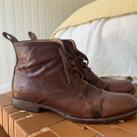 large discount cheap price latest design Frye Shoes | Cap Toe Lace Up Brown Boots | Poshmark